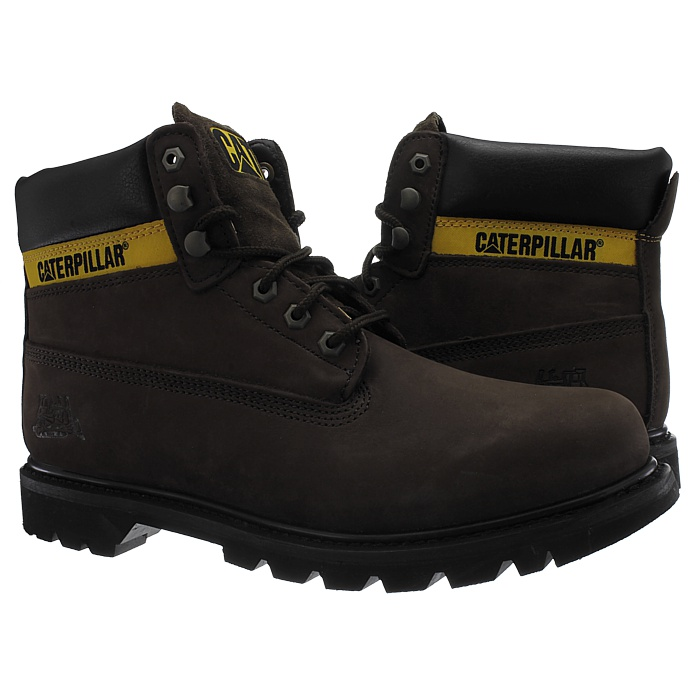 Caterpillar-Colorado-Noir-Marron-Beige-Messieurs-Cuir-Boots-Bottes-6-Couleurs-Neuf miniature 19