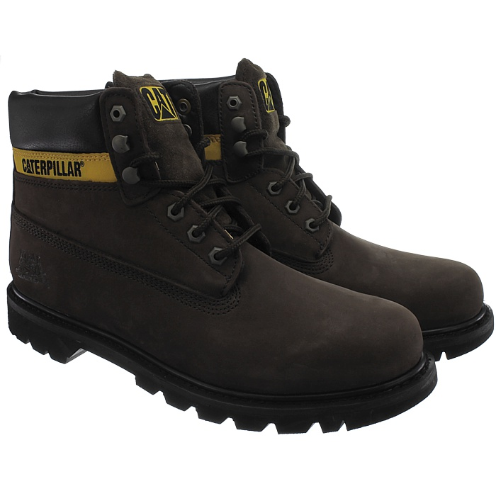 Caterpillar-Colorado-Noir-Marron-Beige-Messieurs-Cuir-Boots-Bottes-6-Couleurs-Neuf miniature 20
