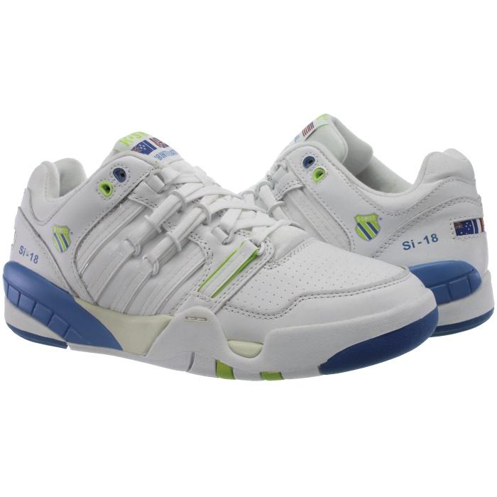 K-Swiss SI-18 oder INTL Herren Sneakers weiß/schwarz oder SI-18 weiß/blau Glattleder NEU 5918c4