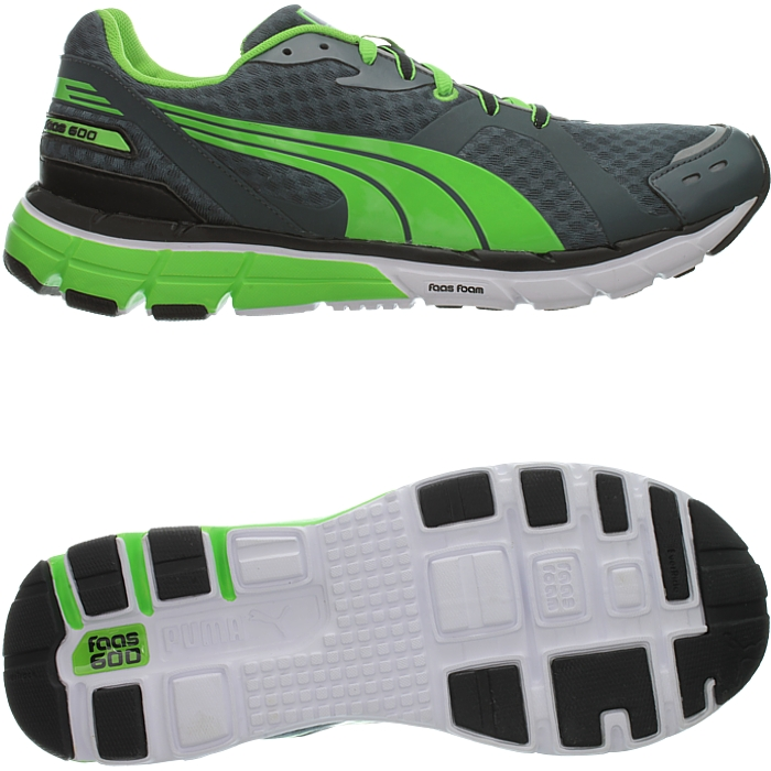 Details about PUMA Faas 600 men's running shoes graygreenblack jogging training NEW