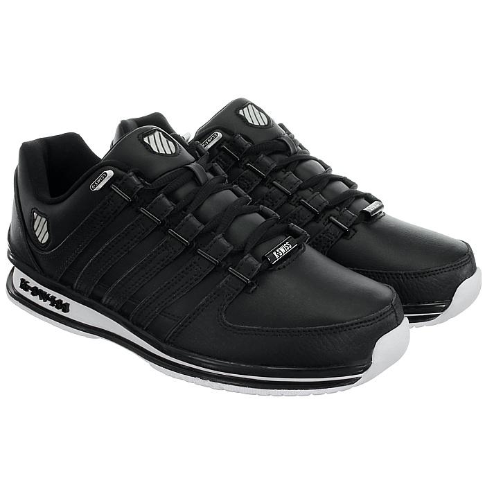 miniatura 8 - K-Swiss-Rinzler-SP-6-Farben-Herren-Leder-Low-Top-Sneakers-Freizeitschuhe-NEU