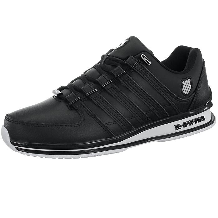 miniatura 9 - K-Swiss-Rinzler-SP-6-Farben-Herren-Leder-Low-Top-Sneakers-Freizeitschuhe-NEU