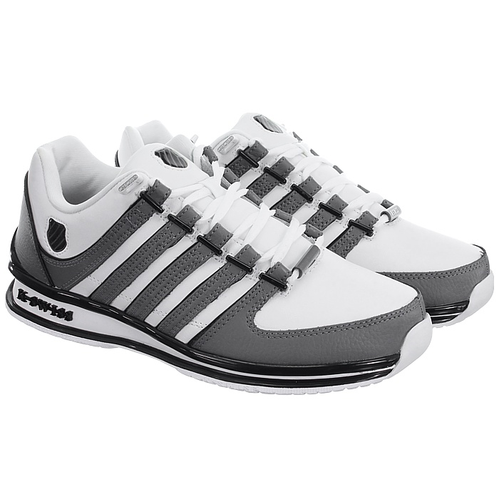 miniatura 24 - K-Swiss-Rinzler-SP-6-Farben-Herren-Leder-Low-Top-Sneakers-Freizeitschuhe-NEU