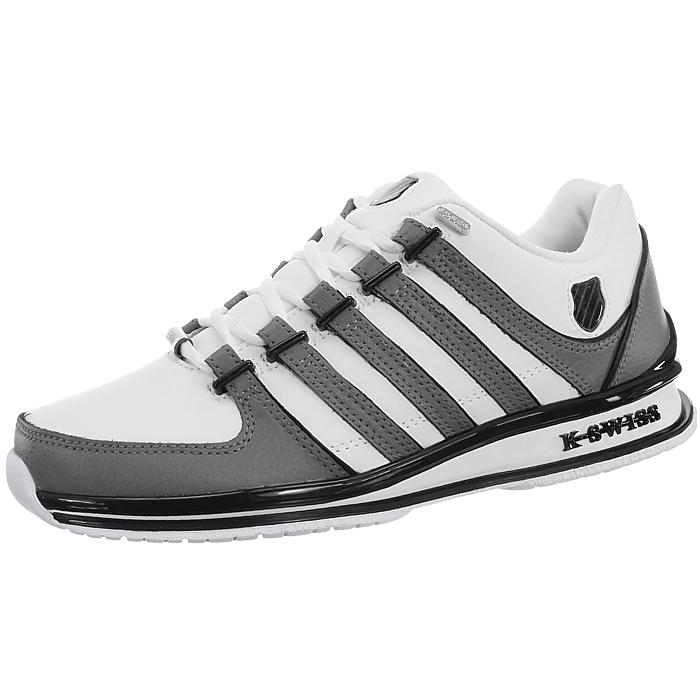 miniatura 25 - K-Swiss-Rinzler-SP-6-Farben-Herren-Leder-Low-Top-Sneakers-Freizeitschuhe-NEU