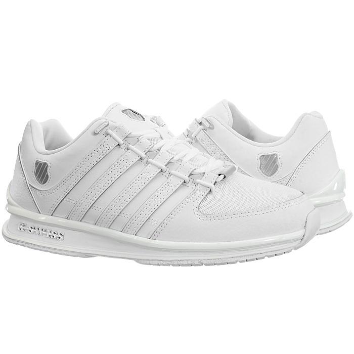 miniatura 11 - K-Swiss-Rinzler-SP-6-Farben-Herren-Leder-Low-Top-Sneakers-Freizeitschuhe-NEU