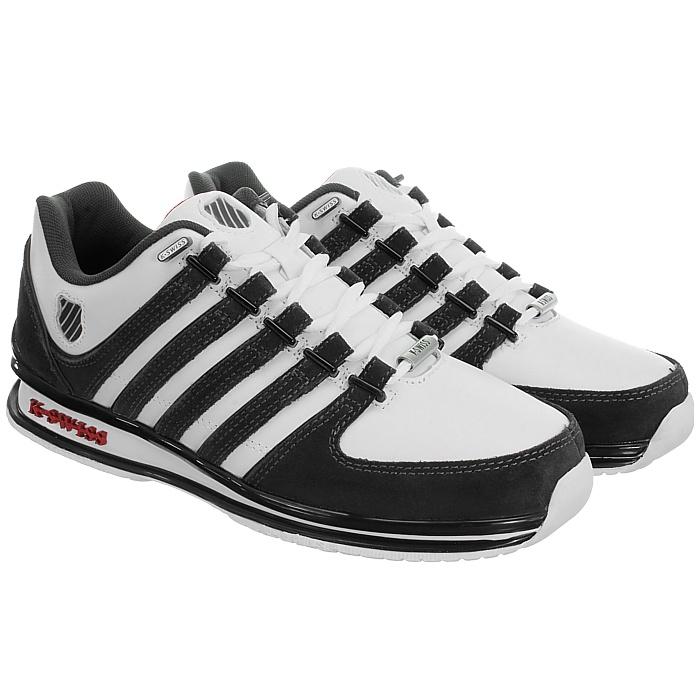 miniatura 20 - K-Swiss-Rinzler-SP-6-Farben-Herren-Leder-Low-Top-Sneakers-Freizeitschuhe-NEU
