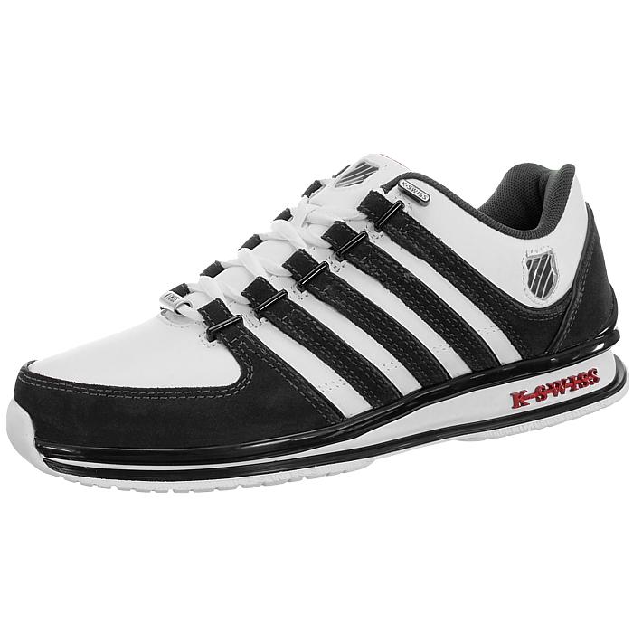 miniatura 21 - K-Swiss-Rinzler-SP-6-Farben-Herren-Leder-Low-Top-Sneakers-Freizeitschuhe-NEU