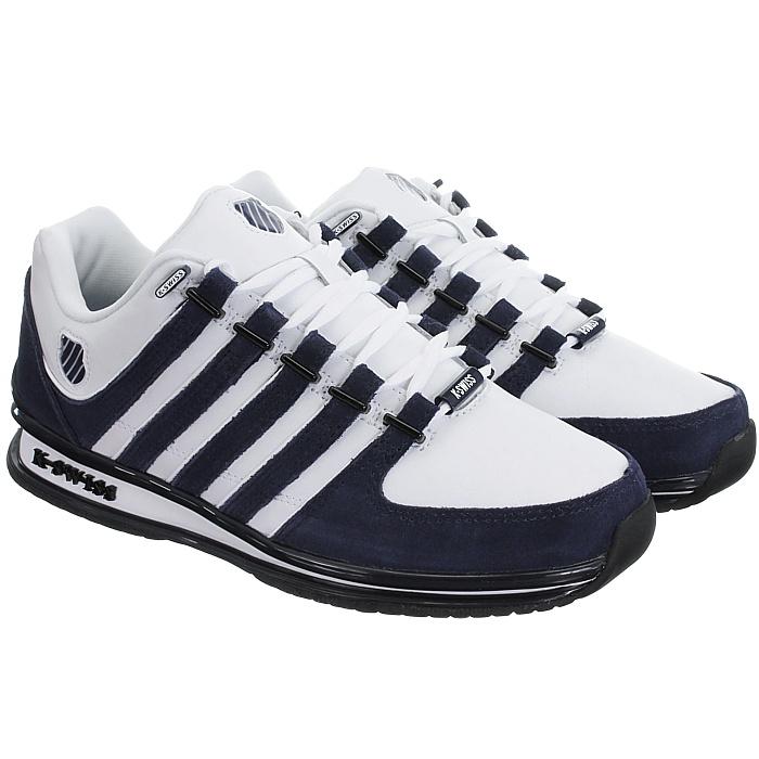 miniatura 16 - K-Swiss-Rinzler-SP-6-Farben-Herren-Leder-Low-Top-Sneakers-Freizeitschuhe-NEU