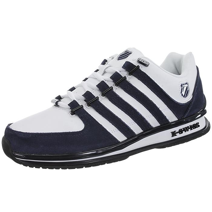 miniatura 17 - K-Swiss-Rinzler-SP-6-Farben-Herren-Leder-Low-Top-Sneakers-Freizeitschuhe-NEU