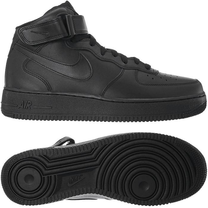 Nike Herren Sneaker Air Force1 Mid 07 AN20 midnightwhite
