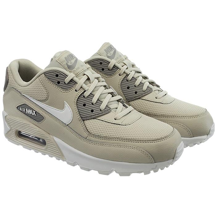 Nike Air Max Max Air 90 Femme Femmes Low-top Baskets Blanc Beige Noir chaussures de loisirs 63746f