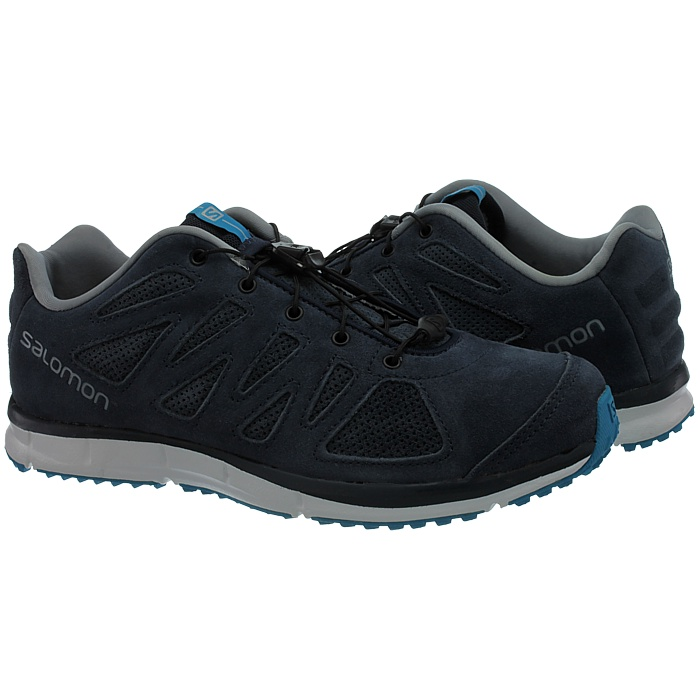 Salomon Kalalau Damen Walkingschuhe blaugraublau Wildleder