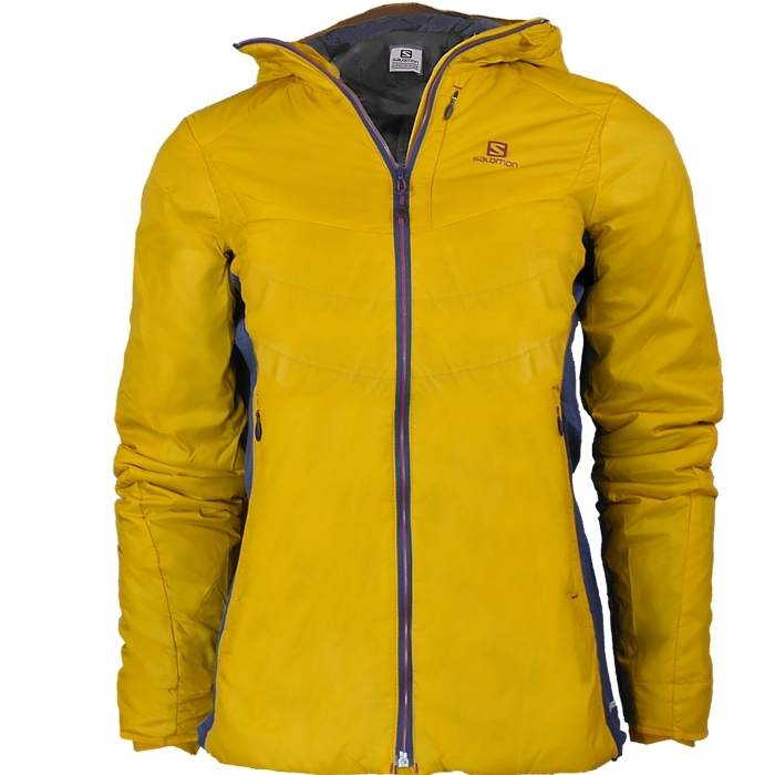 sale retailer multiple colors attractive price Details about Salomon Minim Synth women's windjacket yellow undercoat  hooded jacket NEW