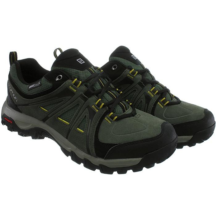 Détails sur Salomon EVASION CS WP Hommes Trekking Chaussures VertNoir Des Rangers Hiking NEUF afficher le titre d'origine