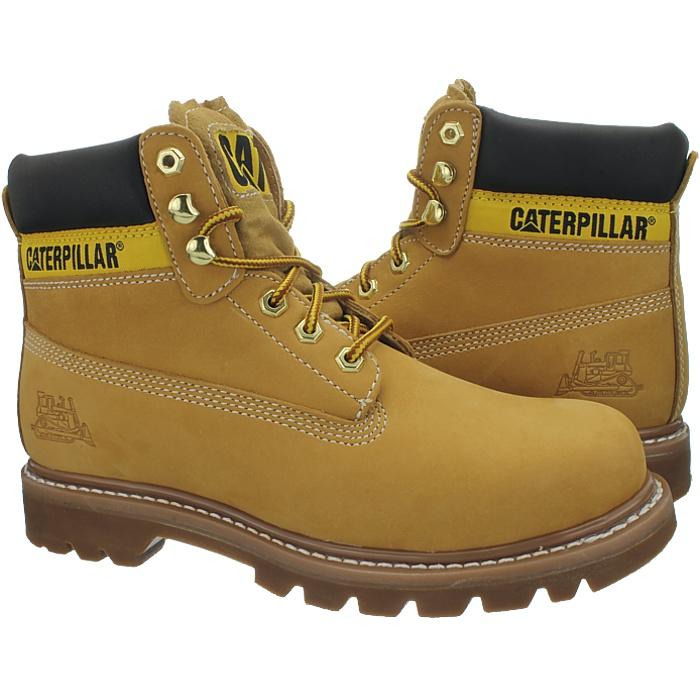 Caterpillar-Colorado-Noir-Marron-Beige-Messieurs-Cuir-Boots-Bottes-6-Couleurs-Neuf miniature 3