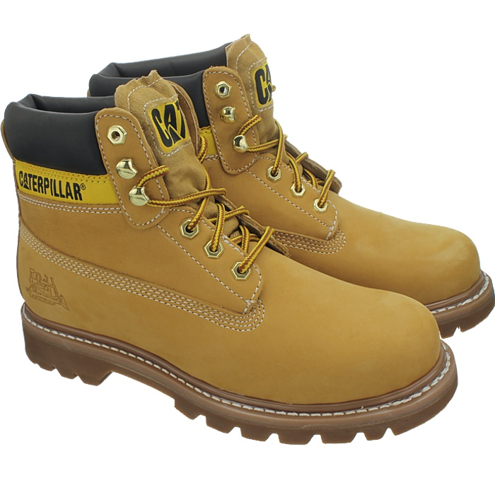 Caterpillar-Colorado-Noir-Marron-Beige-Messieurs-Cuir-Boots-Bottes-6-Couleurs-Neuf miniature 4