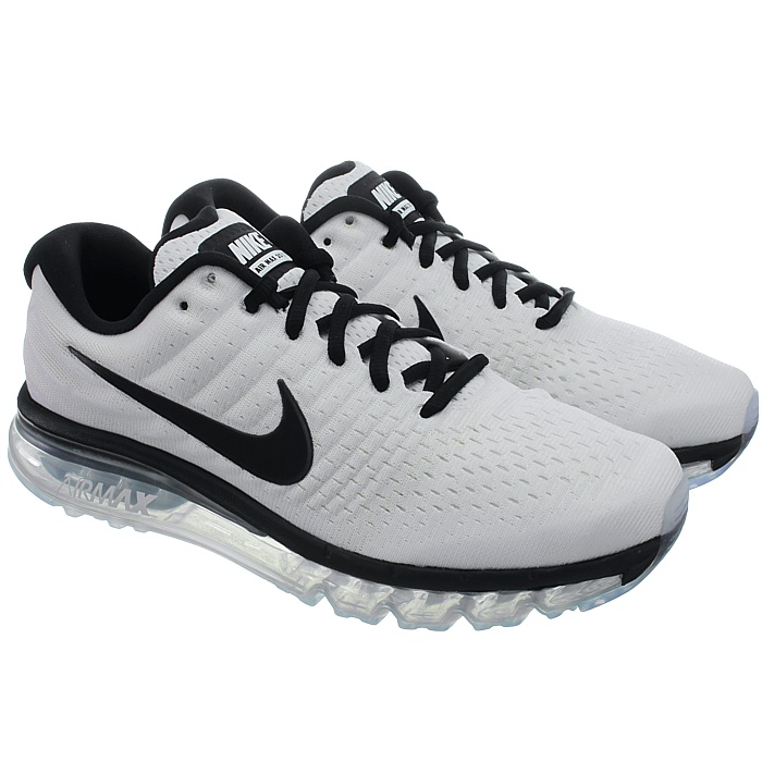 Nike Air Max 2017 Men Running Run SNEAKERS White Black 849559-105 10. About  this product. Picture 1 of 5; Picture 2 of 5; Picture 3 of 5; Picture 4 of 5