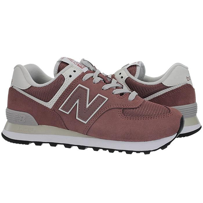 New-Balance-wl574-Femmes-Low-top-Baskets-5-Couleurs-Daim-Chaussures-Loisirs-Neuf miniature 3