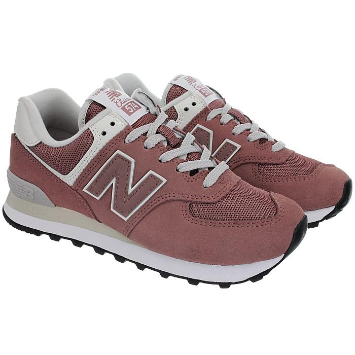 New-Balance-wl574-Femmes-Low-top-Baskets-5-Couleurs-Daim-Chaussures-Loisirs-Neuf miniature 4