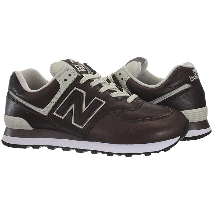 New-Balance-ML574-Leather-Herren-Vollleder-Fashion-Sneakers-Schuhe-3-Farben miniatuur 19