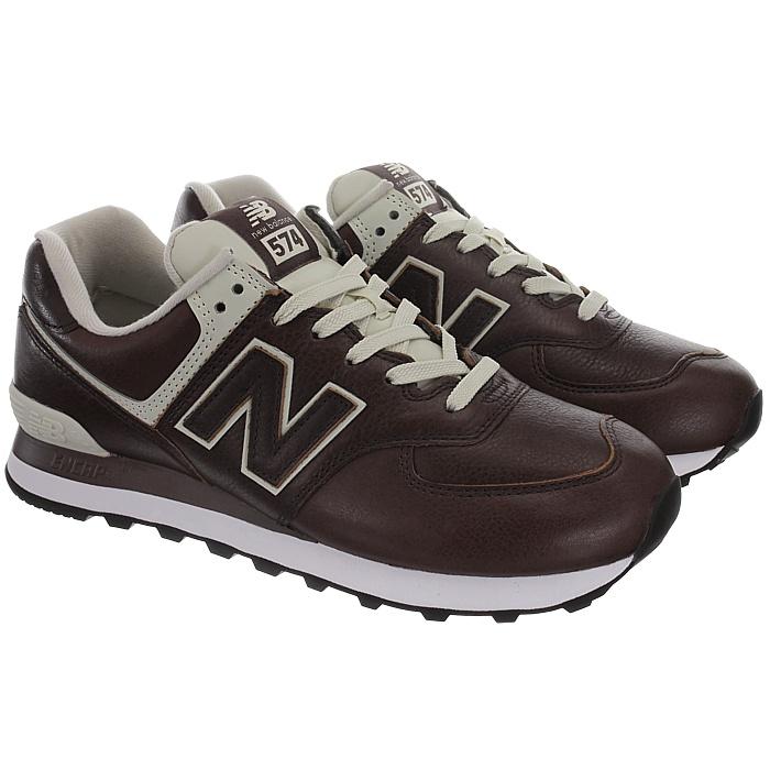New-Balance-ML574-Leather-Herren-Vollleder-Fashion-Sneakers-Schuhe-3-Farben miniatuur 20