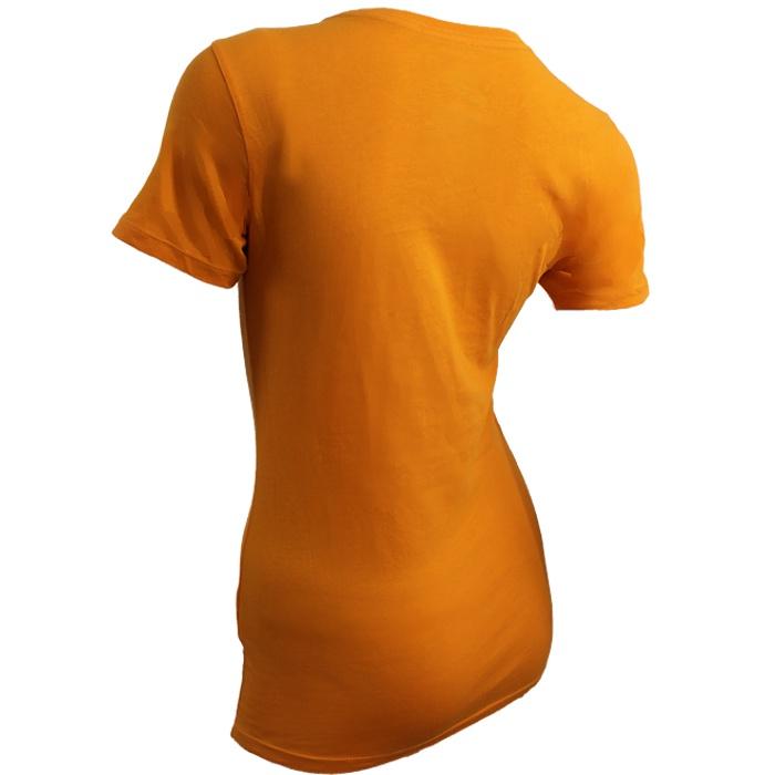 Nike swoosh it up tee women 39 s basic t shirt orange black for Black white red t shirt