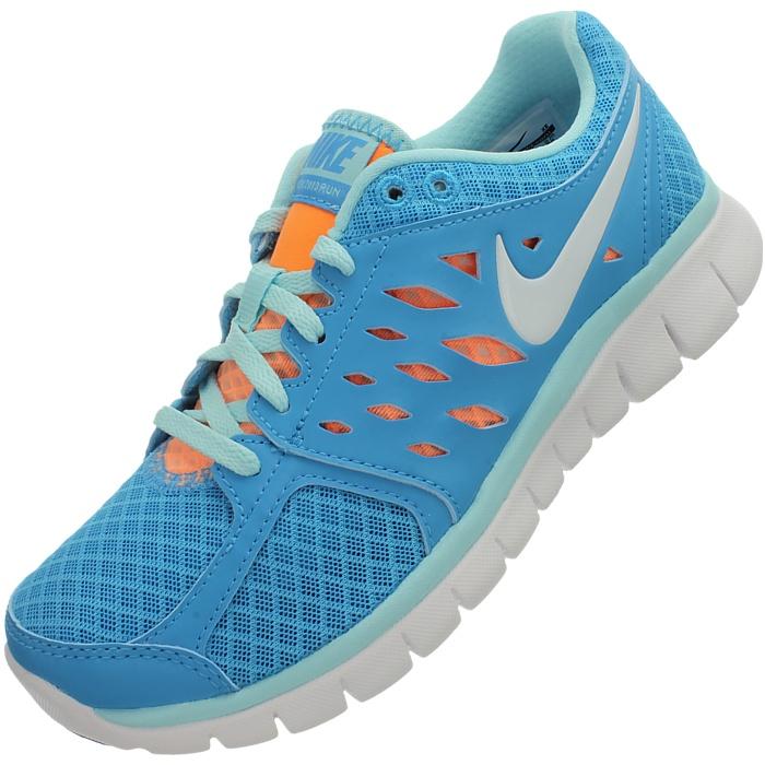 Nike WMNS FLEX 2013 RUN MSL Damen Jogging Laufschuhe Sneaker blau grau NEU OVP