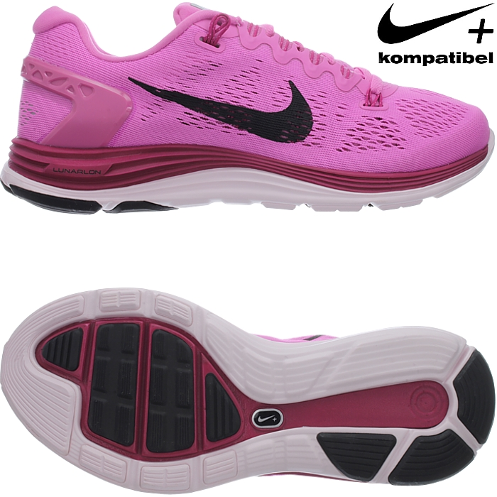 Nike WMNS LUNARGLIDE+ 5 women running shoes athletic sneakers black ... 49c9ca7db8