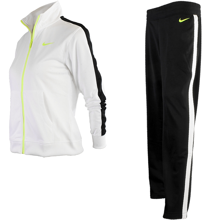 nike polyknit lady damen trainingsanzug sportanzug jogginganzug neu ebay. Black Bedroom Furniture Sets. Home Design Ideas