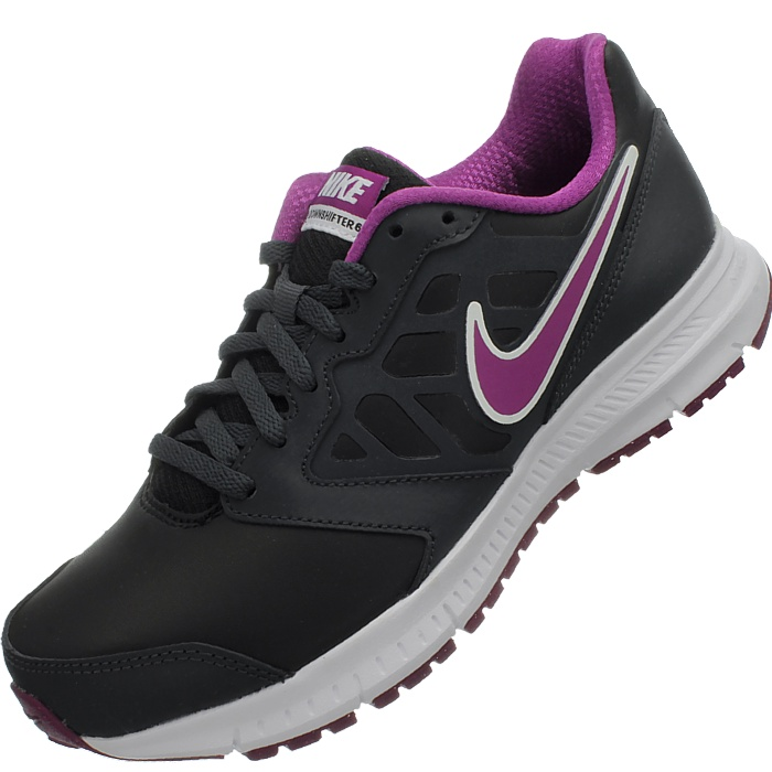 Nike Downshifter 6 LEA black pink Women s Running-shoes smooth ... 0707f7598