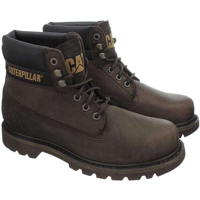 Caterpillar-Colorado-Noir-Marron-Beige-Messieurs-Cuir-Boots-Bottes-6-Couleurs-Neuf miniature 8