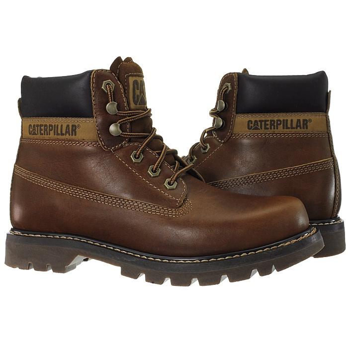 Caterpillar-Colorado-Noir-Marron-Beige-Messieurs-Cuir-Boots-Bottes-6-Couleurs-Neuf miniature 31