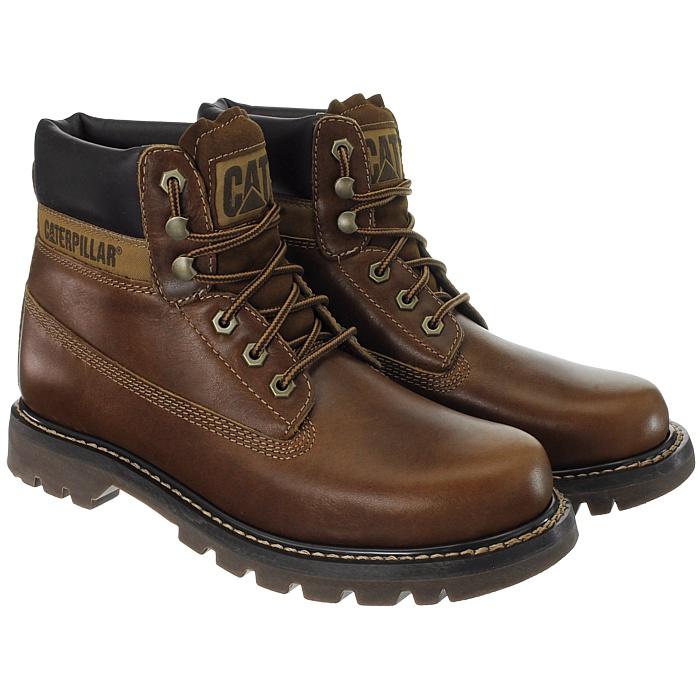 Caterpillar-Colorado-Noir-Marron-Beige-Messieurs-Cuir-Boots-Bottes-6-Couleurs-Neuf miniature 32