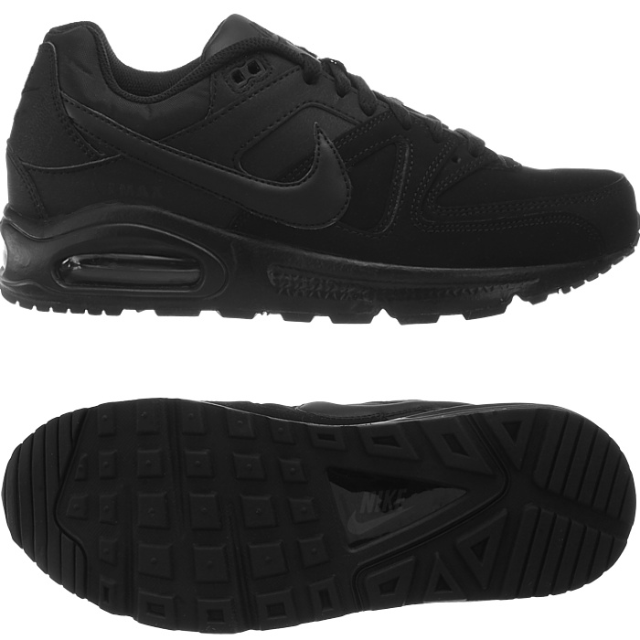 nike air max command leather sneaker herren schwarz grau