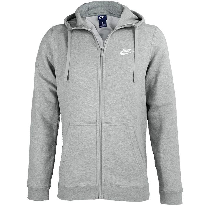 Détails sur Nike Sportswear Fullzip Sweat à Capuche Homme Sweat Veste Noir Gris Haut à Capuche Neuf afficher le titre d'origine