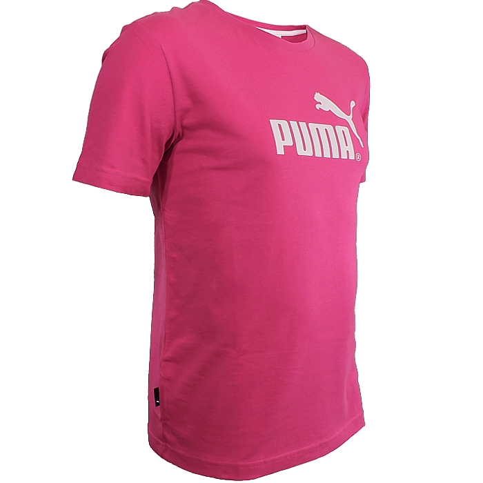 a37107a6626 Puma Large No. 1 Tee women's T-Shirt pink/white sport fitness casual ...