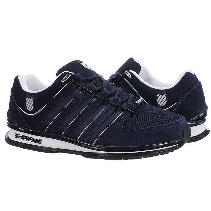 miniatura 3 - K-Swiss-Rinzler-SP-6-Farben-Herren-Leder-Low-Top-Sneakers-Freizeitschuhe-NEU