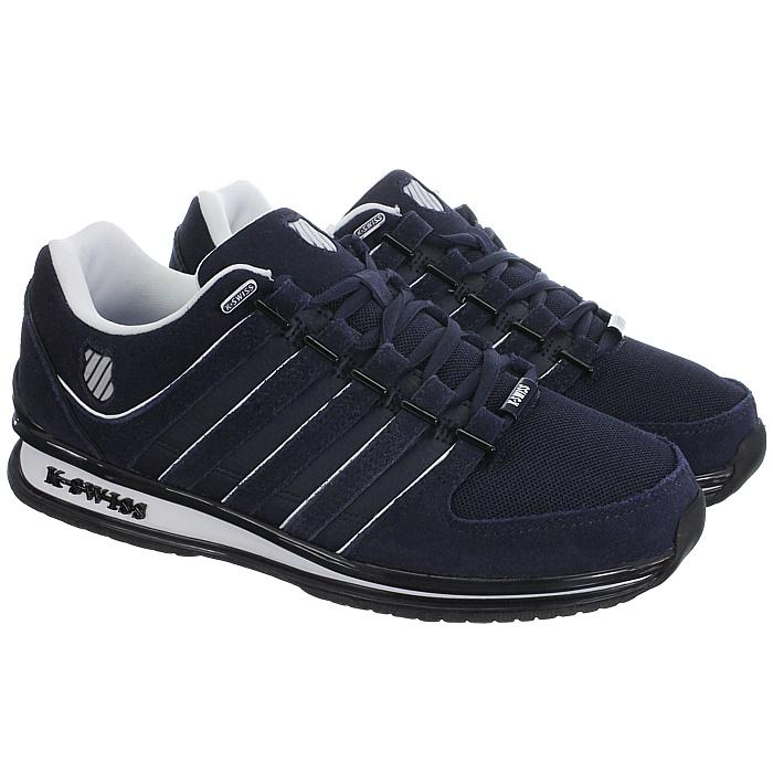 miniatura 4 - K-Swiss-Rinzler-SP-6-Farben-Herren-Leder-Low-Top-Sneakers-Freizeitschuhe-NEU