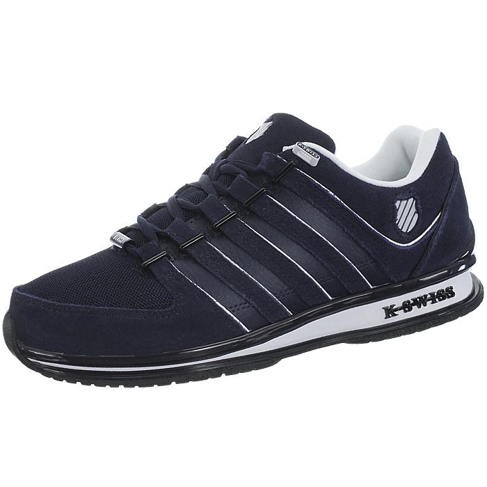 miniatura 5 - K-Swiss-Rinzler-SP-6-Farben-Herren-Leder-Low-Top-Sneakers-Freizeitschuhe-NEU