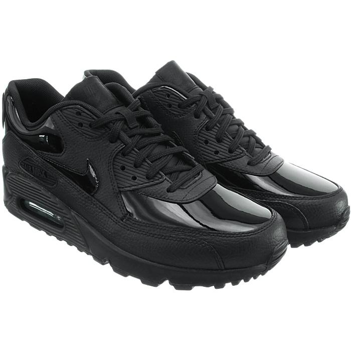 competitive price a2920 ecdab Vêtements, accessoires Nike Wmns Air Max 90 brevet LEA noir femme cuir verni  Low-top Baskets NEUF Femmes  chaussures