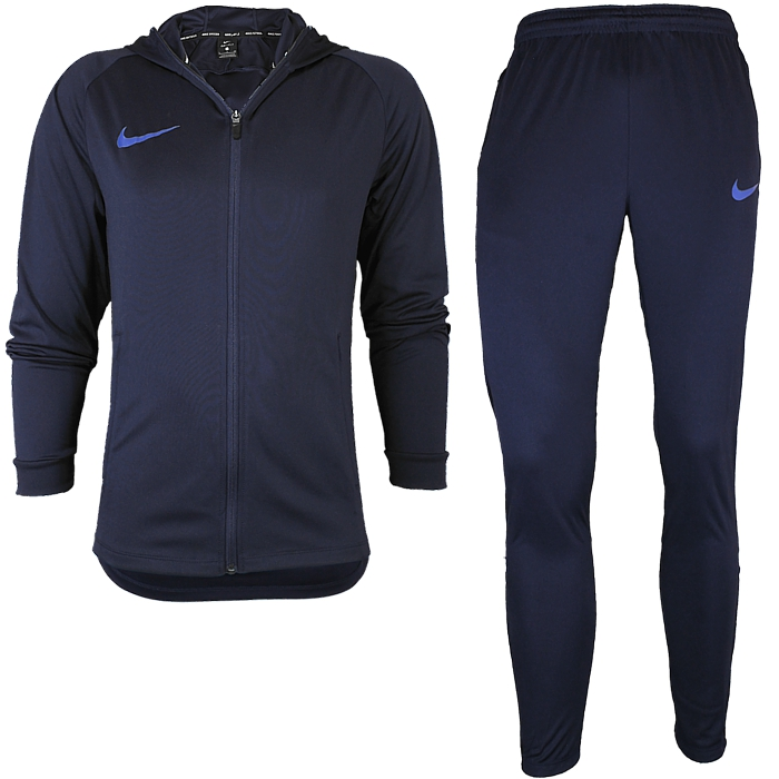 c4f1e452 Nike Dri-Fit Squad Tracksuit Herren Trainingsanzug schwarz blau ...