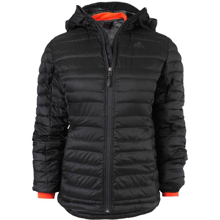 Details zu Adidas Climaheat Frostlight W Damen Winterjacke schwarz Daunenjacke mit Kapuze