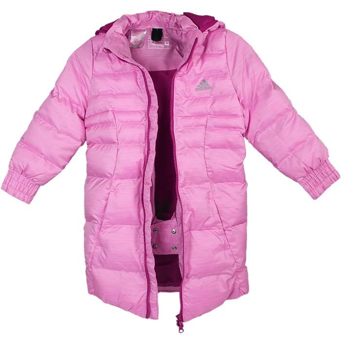 Adidas Synthetic Down Jacket Kinder Daunenjacke Pink Kapuze