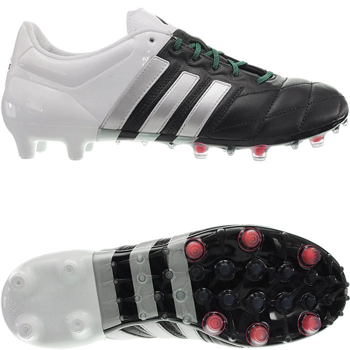 Details about Adidas Ace 15.1 men s soccer boots leather black   orange FG  AG studs cleats NEW 2e6e4ad0f