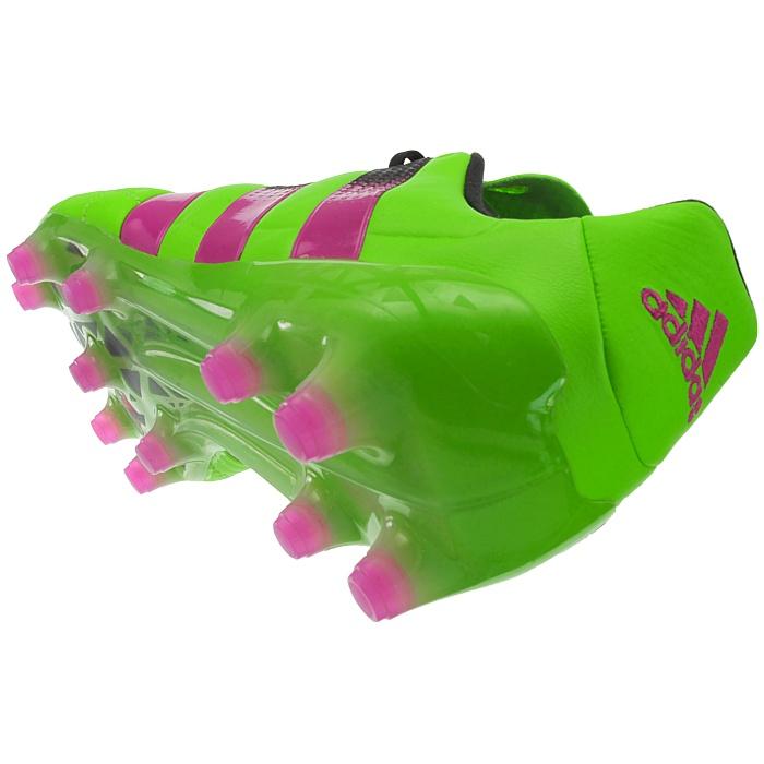 Detalles de Adidas ACE 16.1 Fg Color VerdeAG Lea Cuero Zapatos Botas De Fútbol Tacos Nuevo ver título original
