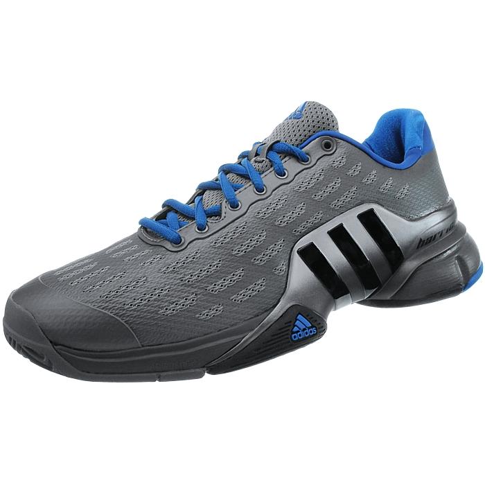 Details about Adidas Barricade 2016 grau metallic blau Herren Tennisschuhe Indoor Allcourt NEU