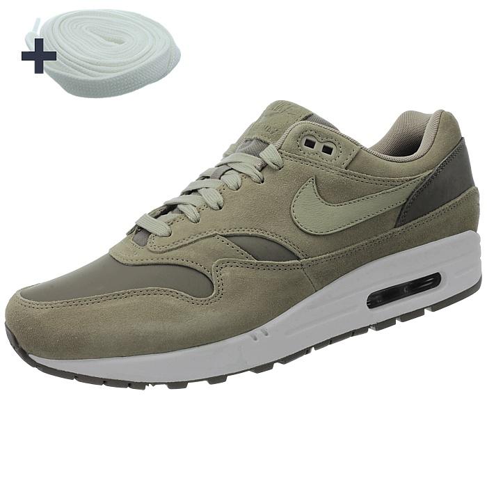 7400cc2cd25 Nike Air Max 1 Premium LTR men's low-top sneakers beige/brown Suede ...