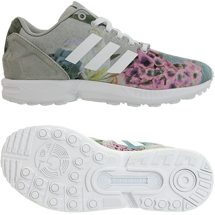cheap for discount b56e0 2dd4f In the modern version, the ZX Flux combines the ZX 8000 outer sole with a  breathable, sporty textile upper and typical heel cage.