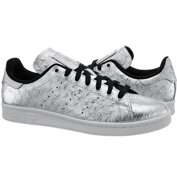 69377ab5f3b4a5 Adidas Stan Smith Herren Low-Top Sneakers silber Straußenleder Kult ...