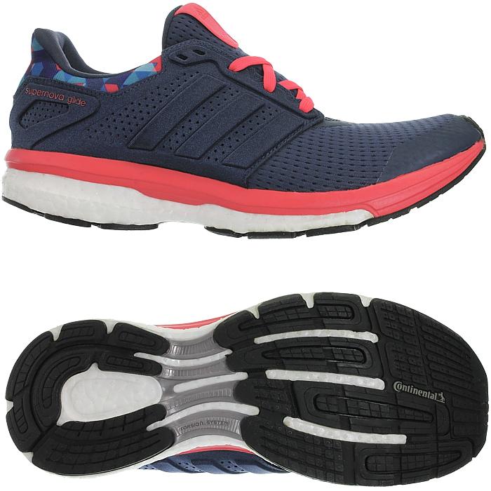 Details zu Adidas Supernova Glide 8 W Techfit Boost blau rot Damen  Laufschuhe Running NEU